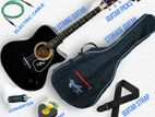 (code :FCG 800) acoustic guitar with bag,picks,cable,eq etc