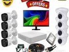 "CCTV Package 8CH DVR 8PCS Camera 500TB HDD 17"" Monitor"
