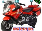 Children's driving electric BMW police bike