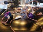 KZ ZST purple earphone