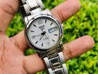 Exclusice SEIKO 5 Crystal White Automatic Watch