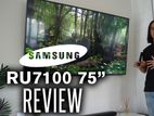 Original 75'' RU7100-Samsung Smart 4K UHD TV ১০০% গ্যারান্টি