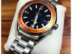 New Seamaster Planet Ocean Automatic Black Dial St. Steel Men's Watch.