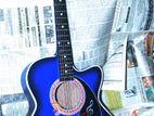 (CODE: ZNM21) Ocean blue color acoustic guitar